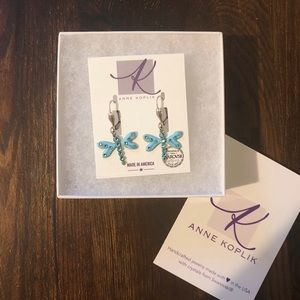 BRAND NEW Anne Koplik Dragonfly Earrings